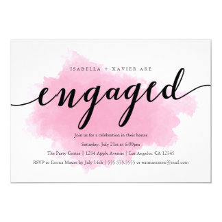 Pink Mist | Engagement Party Invitation