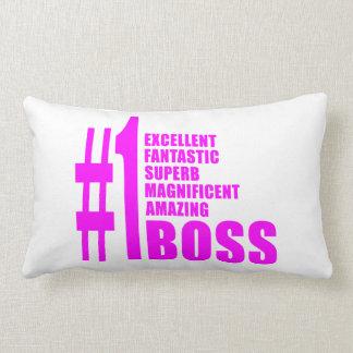 Pink Modern Bosses : Number One Boss Pillow
