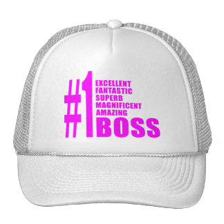 Pink Modern Bosses : Number One Boss Mesh Hats