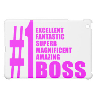 Pink Modern Bosses Number One Boss iPad Mini Cover