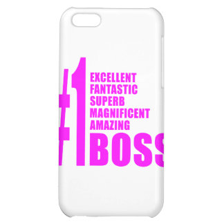 Pink Modern Bosses Number One Boss iPhone 5C Cases