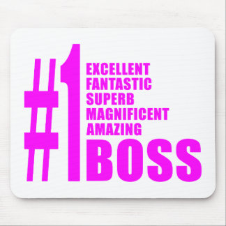 Pink Modern Bosses : Number One Boss Mouse Pad