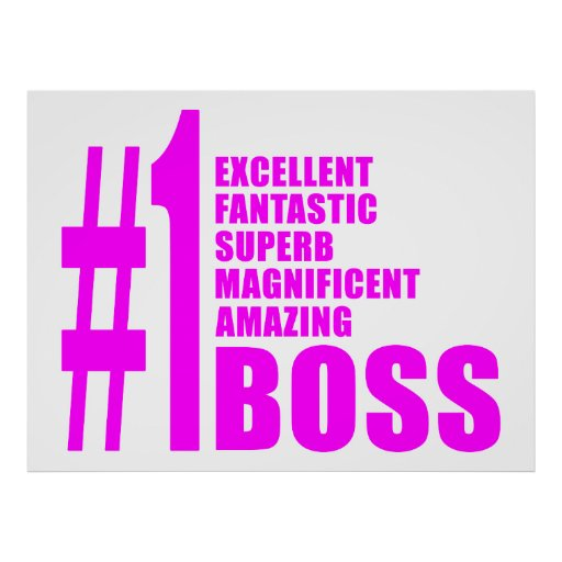 Pink Modern Bosses : Number One Boss Poster