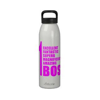 Pink Modern Bosses Number One Boss Water Bottle