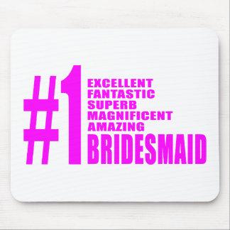 Pink Modern Bridesmaids Number One Bridesmaid Mousepad
