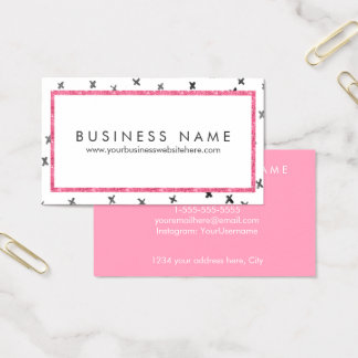 Pink Modern Glam Business Card