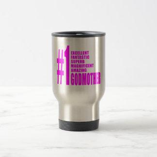 Pink Modern Godmothers : Number One Godmother Mug