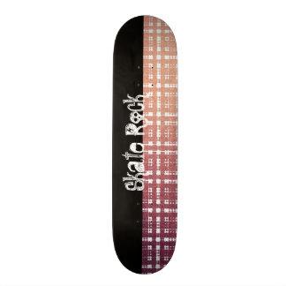 Pink Modern Plaid with Shine Look 20 Cm Skateboard Deck