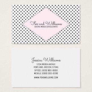 Pink Modern Polka Dots Business Card