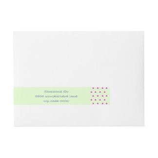 Pink modern squares wraparound address labels wraparound address label