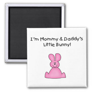 Pink Mommy and Daddy's Bunny T-shirts and Gifts Square Magnet