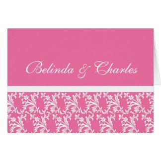 Pink Monogram Cards