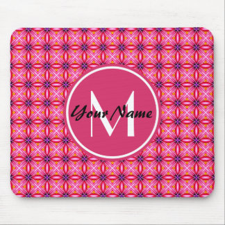 Pink Monogram Computer Mouse Pad