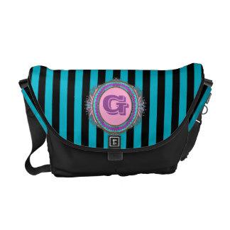 Pink Monogram Designer Bag Courier Bags