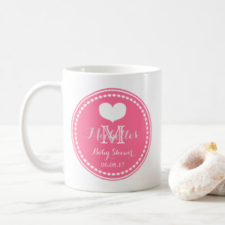 Pink Monogram - Personalized Baby Shower Mug