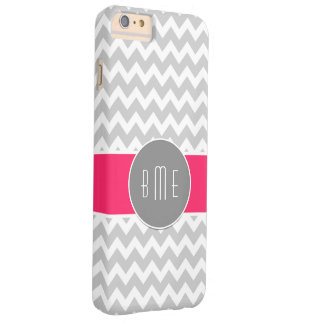 Pink Monogram Stylish Design Barely There iPhone 6 Plus Case