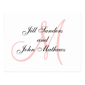Pink Monogram Wedding Save the Date Cards