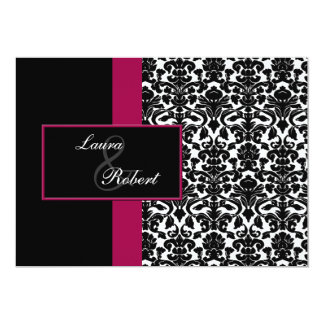 pink monogram wedding Thank You Card Personalized Invite