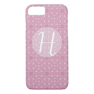 Pink Monogram with Pattern iPhone 8/7 Case