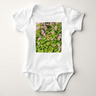 Pink Morning Glories Bush Baby Bodysuit