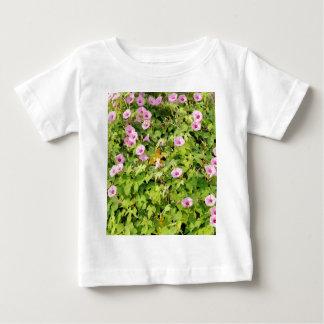 Pink Morning Glories Bush Baby T-Shirt