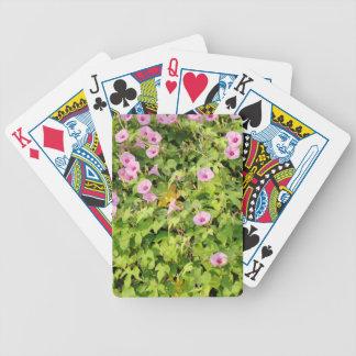 Pink Morning Glories Bush Bicycle Playing Cards