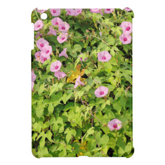 Pink Morning Glories Bush iPad Mini Case