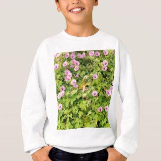 Pink Morning Glories Bush Sweatshirt