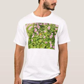 Pink Morning Glories Bush T-Shirt