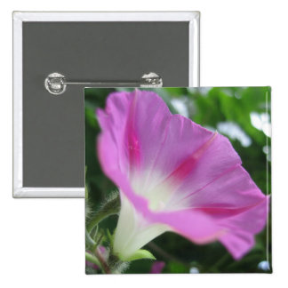 Pink Morning Glory Flower 15 Cm Square Badge