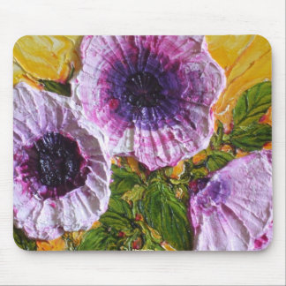 Pink Morning Glory Mouse Pad