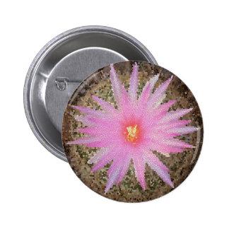 Pink Mosaic Barrel Cactus Bloom Pins