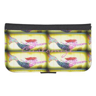 pink mosaic mermaid Thunder_Cove Samsung S4 Wallet Case