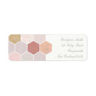 Pink Mosaic Return Address Label