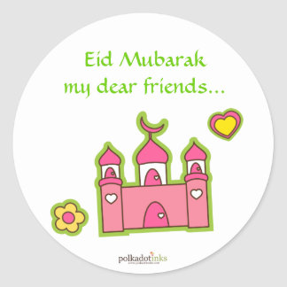Pink Mosque Stickers