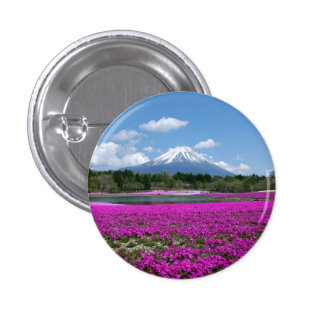 Pink moss and Mt Fuji in the background Pins