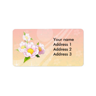Pink moth orchid label