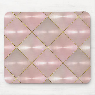 Pink Mother of Pearl with Gold Mouse Pad