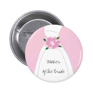 Pink Mother Of The Bride Button