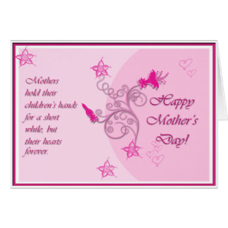 Pink Mothers Day Card with Poem