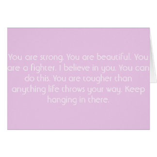 Pink Motivational Card Greeting Card
