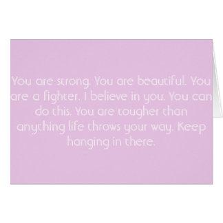 Pink Motivational Card