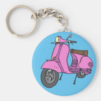 Pink Motor Scooter Key Ring