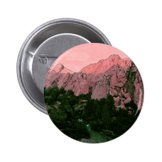 Pink Mountain 6 Cm Round Badge