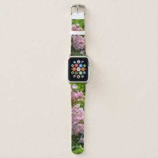 Pink Mountain Laurel Apple Watch Leather Band