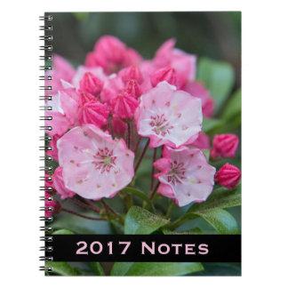 Pink Mountain Laurel Spiral Notebook