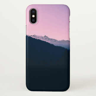 Pink Mountain - Two Tone iPhone X Case