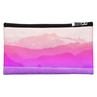 Pink Mountains Bag Makeup Bag