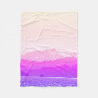 Pink Mountains Blanket