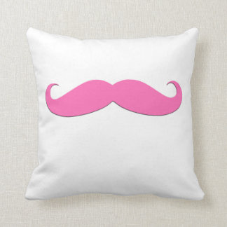 Pink Moustache Black Moustache Humor Newly Weds Throw Pillow